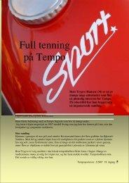 Full tenning på Tempo - Norsk Tempoklubb
