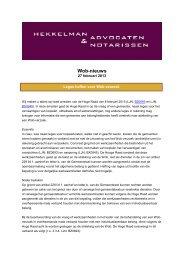 Wob-nieuws - Hekkelman Advocaten & Notarissen