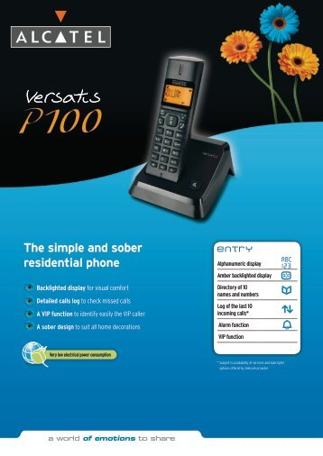 The simple and sober residential phone - CIT Ltda.