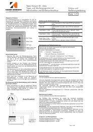 Bedienungsanleitung - Kaiser Nenhaus - Komfort & Technik GmbH