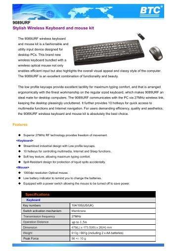 BTC Keyboard 2001URF Windows