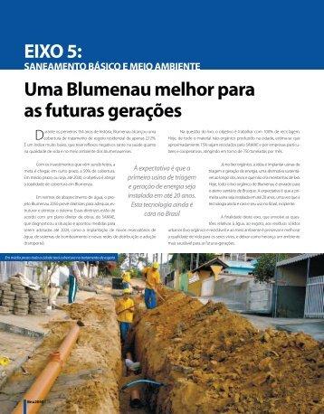 Uma Blumenau melhor para as futuras gerações EIXO 5: - Prefeitura ...