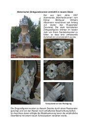 Historischer Zinkgussbrunnen erstrahlt in neuem ... - Conrads Lacke