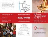 Hilfe und Gerechtigkeit für Opfer - Gewaltschutzzentrum Salzburg