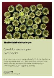 Opioids for persistent pain: Good practice - The British Pain Society
