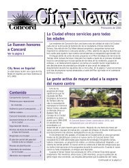 Le llueven honores a Concord - City of Concord