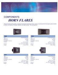 Horn Flares - J&H Licht en Geluid