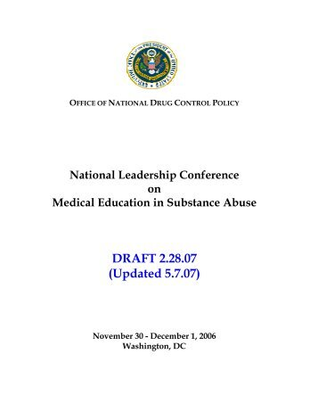 National Leadership Conference on Medical Education in ...