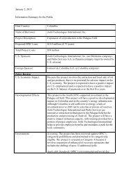 Joshi Technologies International, Inc. - Information Summary for the ...