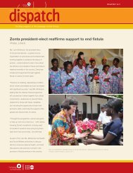 Zonta president-elect reaffirms support to end fistula - Campaign to ...