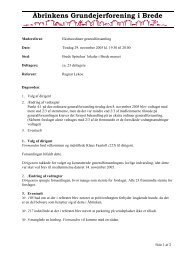Referat fra ekstraordinær generalforsamling, 29. november 2005
