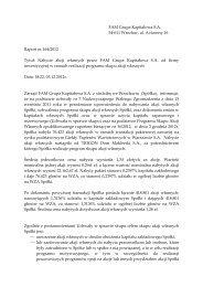 Raport bieżący nr 164/2012 - FAM Grupa Kapitałowa S.A.