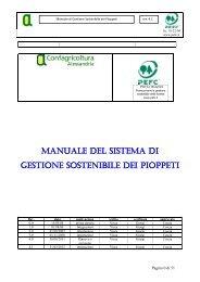 Manuale gestione sostenibile della pioppicoltura P.E.F.C. - rev. 4.1