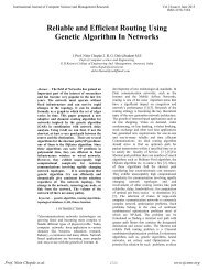Reliable and Efficient Routing Using Genetic Algorithm In ... - ijcsmr