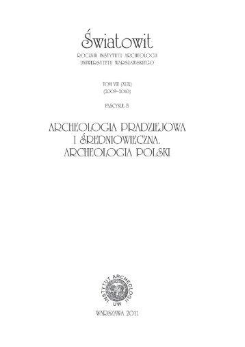 artykuł - Instytut Archeologii Uniwersytetu Warszawskiego ...