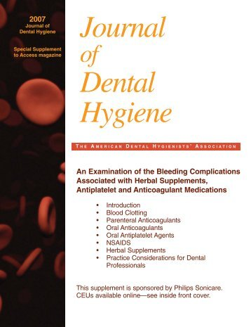 Herbal Supplement - American Dental Hygienists