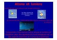Atome et lumière