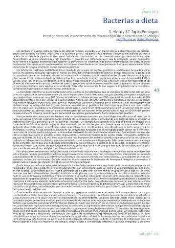 Bacterias a dieta - Encuentros en la Biología - Universidad de Málaga