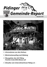 Gemeindereport November 2013 - Gemeinde Piding