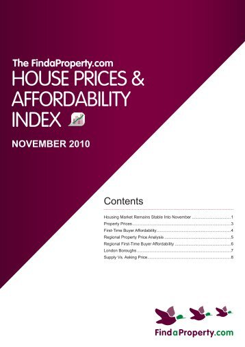 Findaproperty.com House Prices and Affordability Index November ...