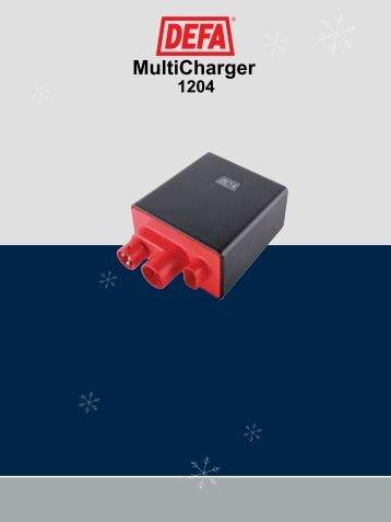 DEFA MultiCharger 1204 Bruks-/Monteringsanvisning