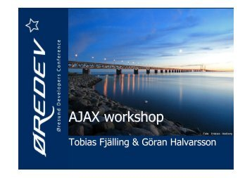 AJAX workshop