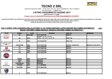 TECNO 2 SRL - SprintBooster