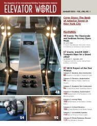 Cover Story: The Bank of America Tower in New ... - Elevator World