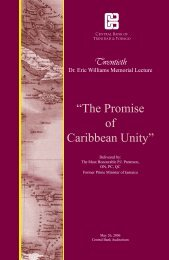 """The Promise of Caribbean Unity"" - Central Bank of Trinidad and ..."