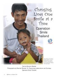 Changing Lives One Smile at a Time, Operation Smile Thailand