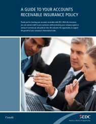 A Guide to Your Accounts Receivable Insurance Policy ... - EDC