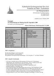 Protokoll der PGR-Sitzung am 28. September 2009 - Herz Jesu ...