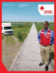 Canadian Red Cross Annual Report 2010-2011