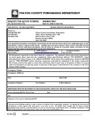 00Q  Request for Quote Cover Sheet - Fulton County