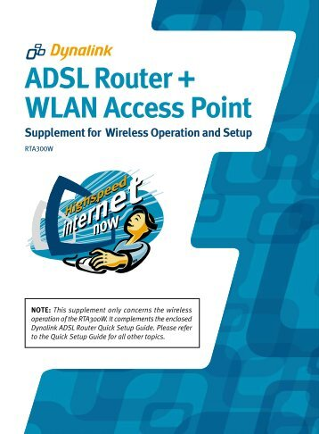 ADSL Router + WLAN Access Point Supplement for Wireless - aaNet