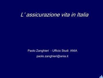 L' assicurazione vita in Italia - Ania