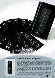 Touch Panel Keypad 5005PL