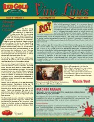 August 2010 Vine Lines Newsletter - Red Gold