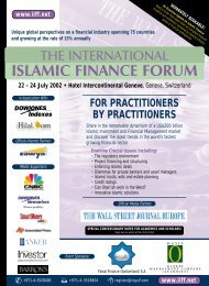ISLAMIC FINANCE FORUM - John A. Sandwick