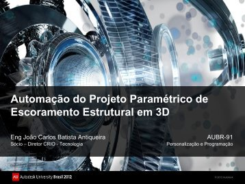 Apresentação do PowerPoint - Autodesk International Communities