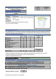 Yaourt nature au lait entier bio 4x100 g NOVA - Mercuriale.net