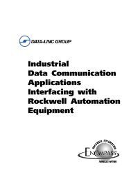 Interfacing with Rockwell Automation - Data-Linc Group