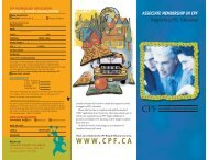 Associate Membership in CPF - Canadian Parents for French
