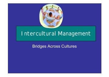O.3 Intercultural Management (Trade 2009) - Eurochambres Academy