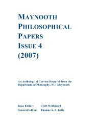 MPP Issue 4 - Philosophy NUIM - National University of Ireland ...
