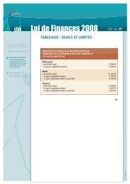 Loi de Finances 2008 - CFPB