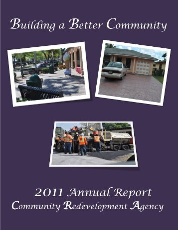 2011 CRA Annual Report - City of Homestead