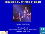 Troubles du rythme et sport - Club des Cardiologues du Sport