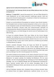 Page 1 apprupt holt sich weitere Branchenexperten an Bord Vier ...