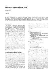 Missione Turkmenistan 2006 - Università degli Studi di Padova